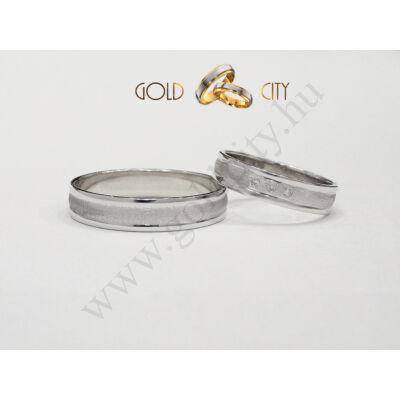 Fehér arany karikagyűrű  kövekkel díszítve-Goldcity Ékszer Webáruház