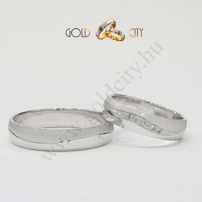 Fehér arany karikagyűrű, jegygyűrű az ékszer webáruházból-goldcity.hu