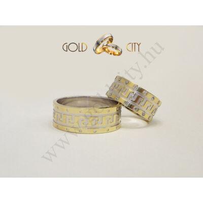 Görög mintás karikagyűrű,  a Gold City Ékszer Webáruház kínálatából.