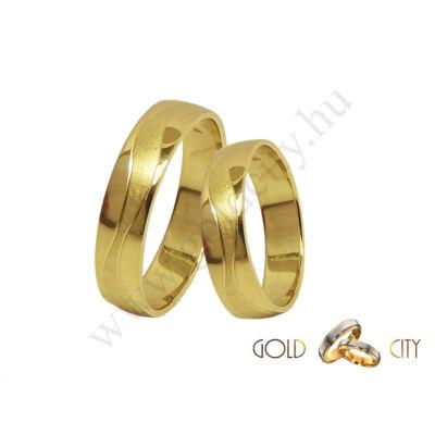 Sárga arany karikagyűrű, a Gold City Ékszer Webáruház kínálatából.