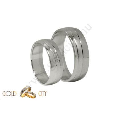 Fehér arany karikagyűrű, jegygyűrű, Goldcity Ékszer Webáruház