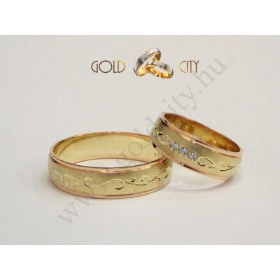 Kézzel vésett arany karikagyűrű a Gold City Ékszer Webáruház kínálatából.
