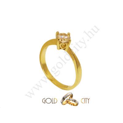 Sárga arany gyűrű, jegygyűrű az ékszer webáruházból-goldcity.hu