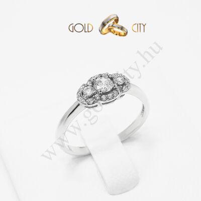Fehér arany gyűrű, jegygyűrű az ékszer webáruházból