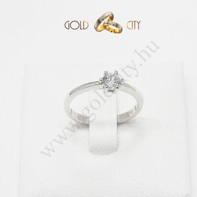 Fehér arany gyűrű, jegygyűrű az ékszer webáruházból-goldcity.hu