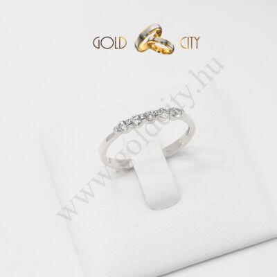 Szolid fehér arany gyűrű, jegygyűrű az ékszer webáruházból-goldcity.hu