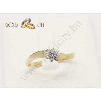 Sárga arany köves gyűrű az ékszer webáruházból-goldcity.hu