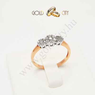 Rozé és fehér arany jegygyűrű az ékszer webáruházból-goldcity.hu