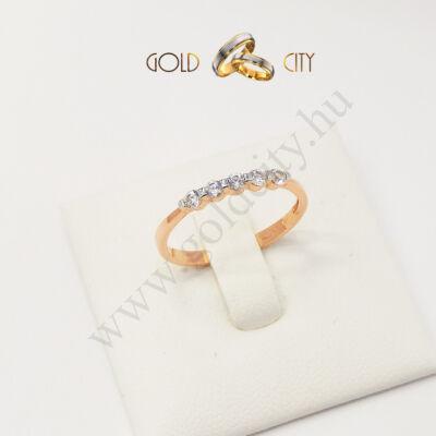 Szolid rozé arany gyűrű, jegygyűrű az ékszer webáruházból-goldcity.hu