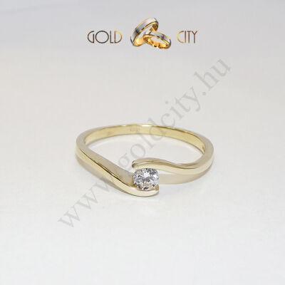 brill-köves-gyűrű,jegygyűrű,