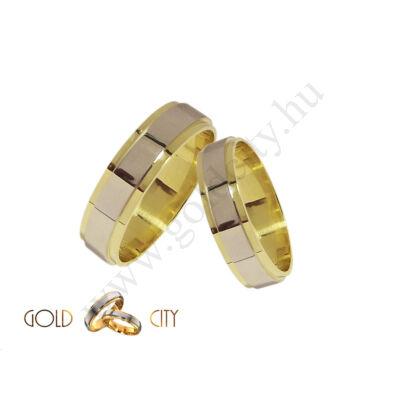 Karikagyűrű, jegygyűrű többszínű aranyból GoldCity Ékszer Webáruházból.