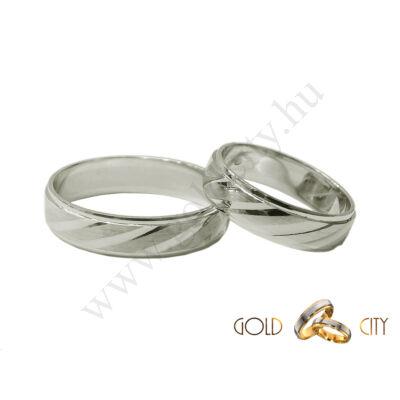 Fehér arany karikagyűrű a GoldCity Ékszer Webáruházból.