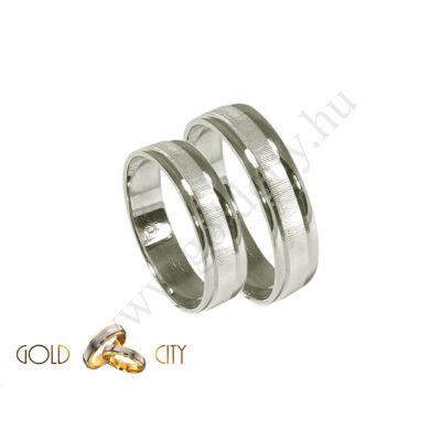 Fehér arany karikagyűrű,jegygyűrű az ékszer webáruházból-goldcity.hu