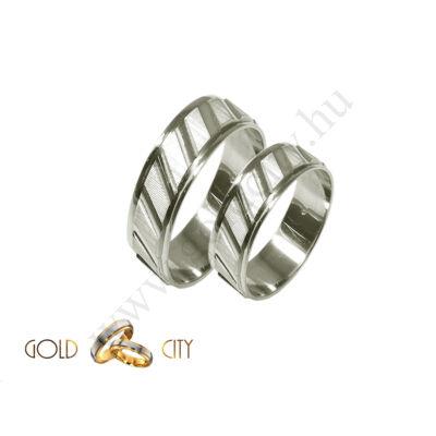 Fehér arany karikagyűrű és jegygyűrű az ékszer webáruházból-goldcity.hu