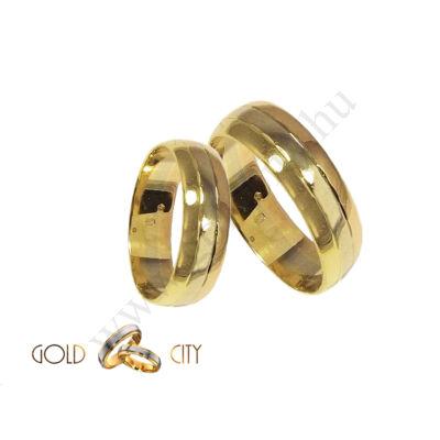 G-1042 háromszínű arany karikagyűrű