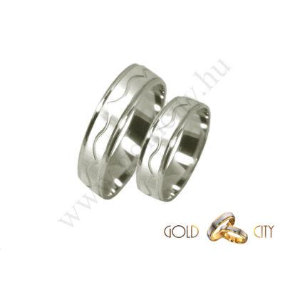 Fehér arany karikagyűrű, jegygyűrű az ékszer webáruházból.