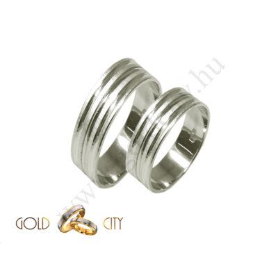 Fehér arany jegygyűrű, karikagyűrű az ékszer webáruházból-goldcity.hu