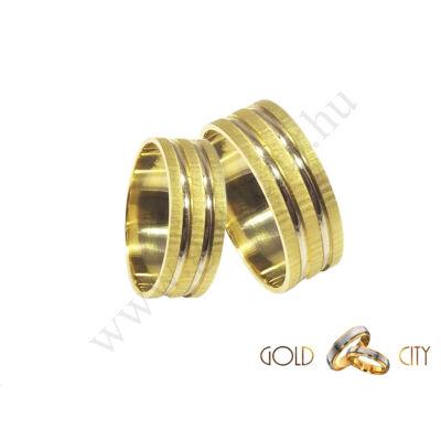 G-1051-SF kétszínű arany karikagyűrű