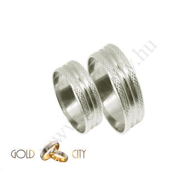 Fehér arany karikagyűrű, jegygyűrű a GoldCity Ékszer Webáruházból.