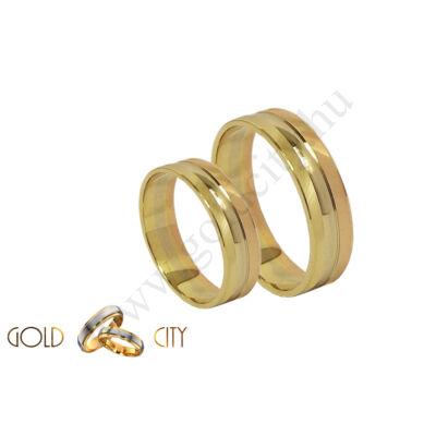 Háromszínű arany karikagyűrű, a Gold City Ékszer Webáruház kínálatából.