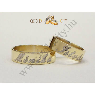 karikagyűrű,jegygyűrű,névvel_mart_