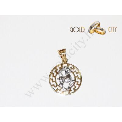 Sárga arany horoszkóp medál az ékszer webáruházból-GoldCity-Ékszer-Webáruház