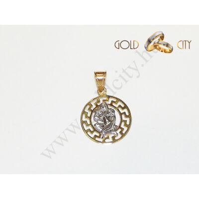 Sárga-fehér arany medál az ékszer webáruházból-GoldCity-Ékszer-Webáruház